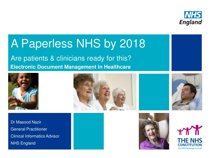A paperless nhs by 2018 are patients clinicians ready for this