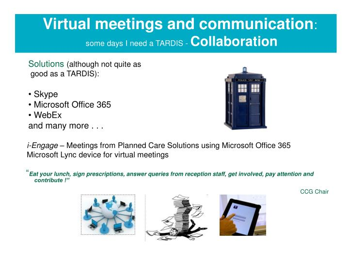 Virtual meetings and communication