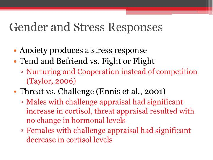 Gender and Stress Responses
