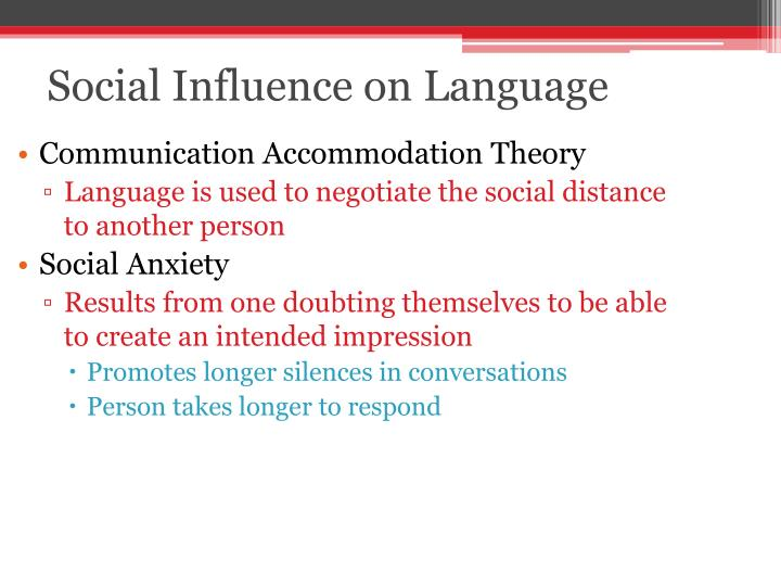 Social influence on language