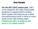 goal sample