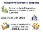 multiple resources supports
