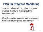 plan for progress monitoring