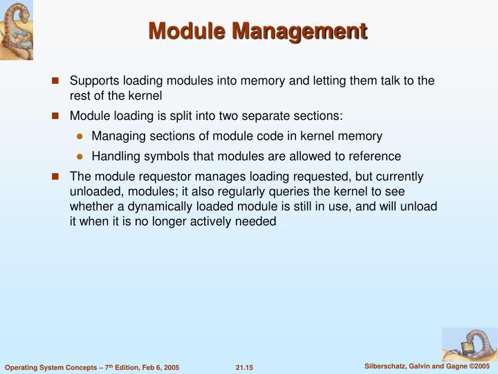 Module Management