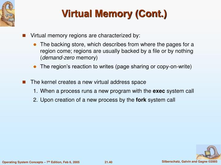 Virtual Memory (Cont.)