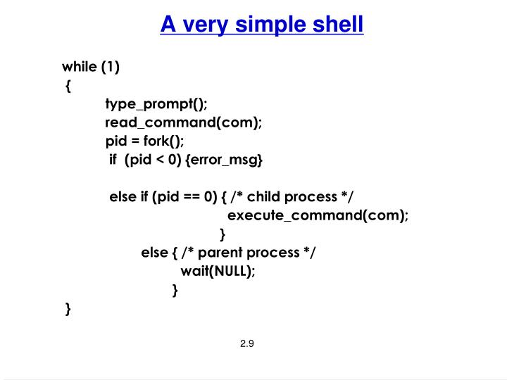 A very simple shell