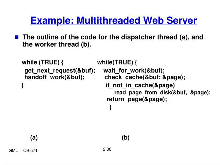 Example: Multithreaded Web Server
