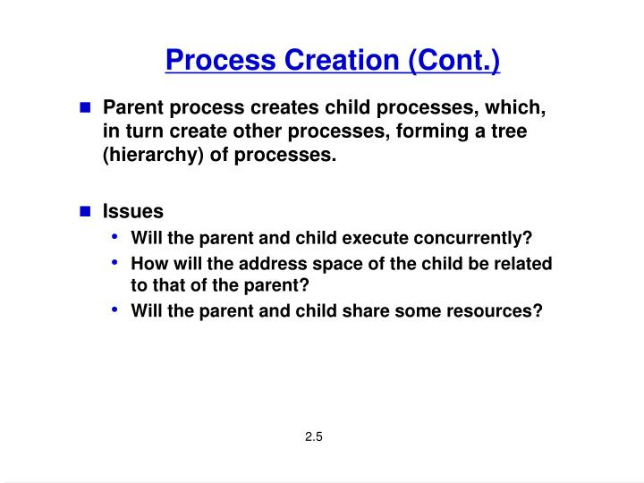 Process Creation (Cont.)