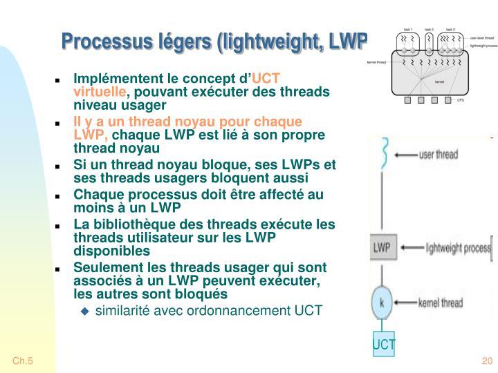 Processus légers (lightweight, LWP)