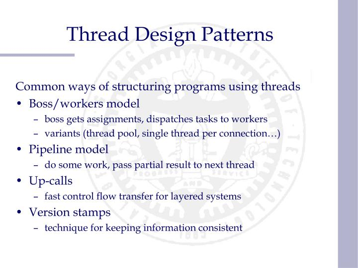 Thread Design Patterns