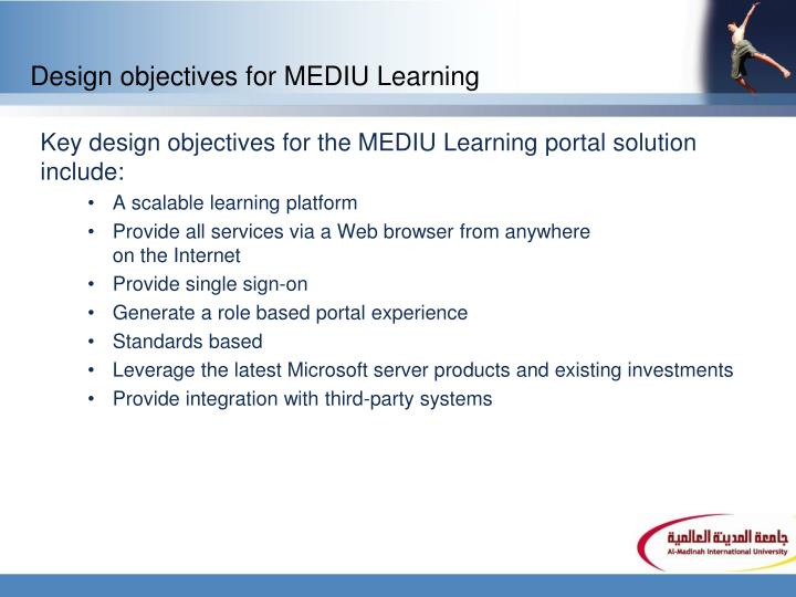 Design objectives for MEDIU Learning