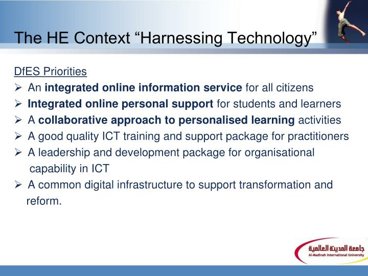 The he context harnessing technology