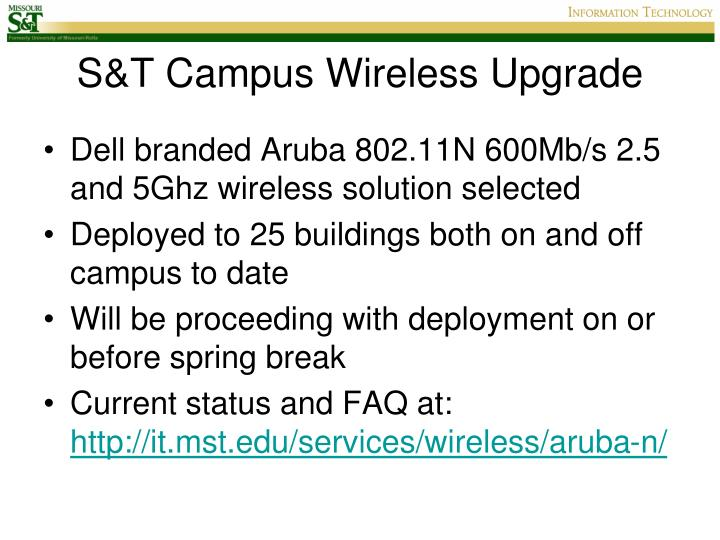 S t campus wireless upgrade