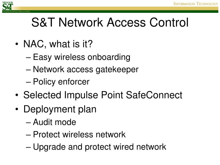 S&T Network Access Control