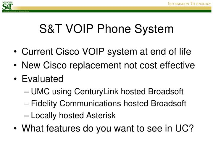 S&T VOIP Phone System