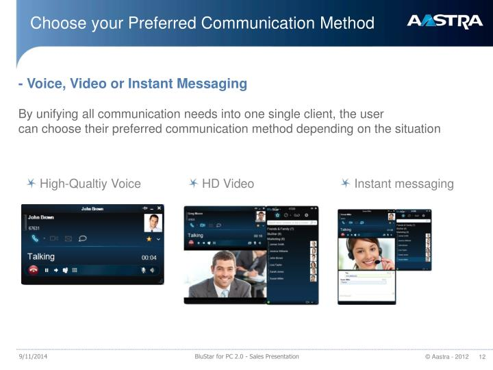 Choose your Preferred Communication Method