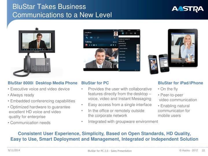 BluStar Takes Business