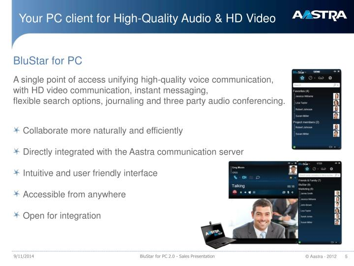 Your PC client for High-Quality Audio & HD Video