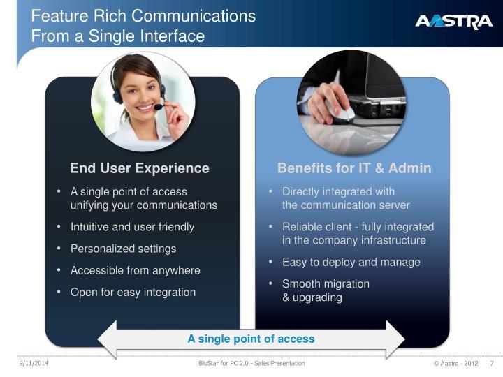 Feature Rich Communications