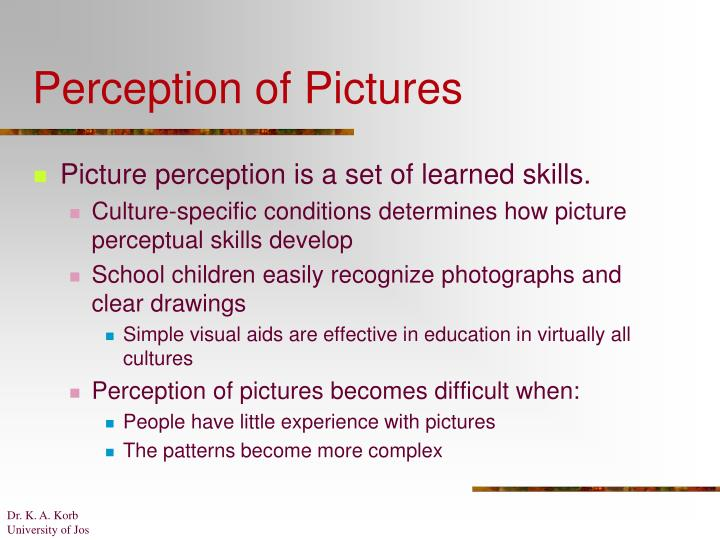 Perception of Pictures