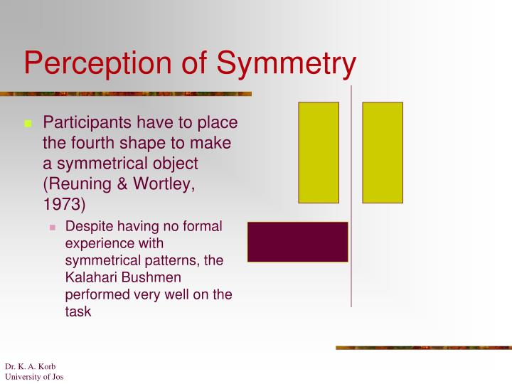 Perception of Symmetry