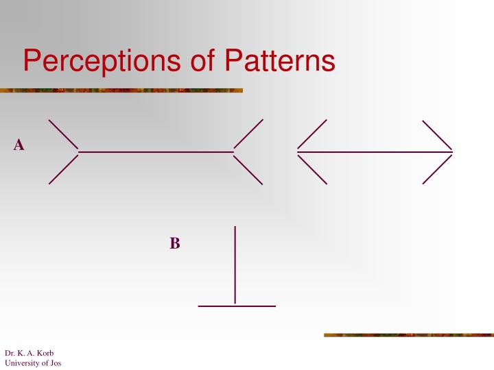Perceptions of Patterns