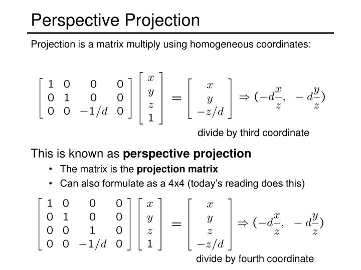 divide by third coordinate
