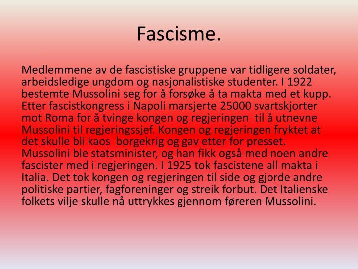 Fascisme.