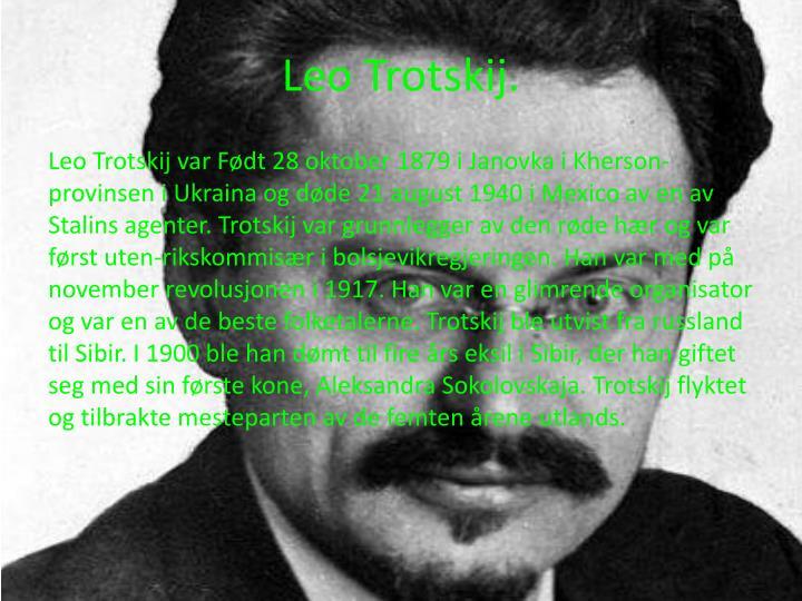 Leo Trotskij.