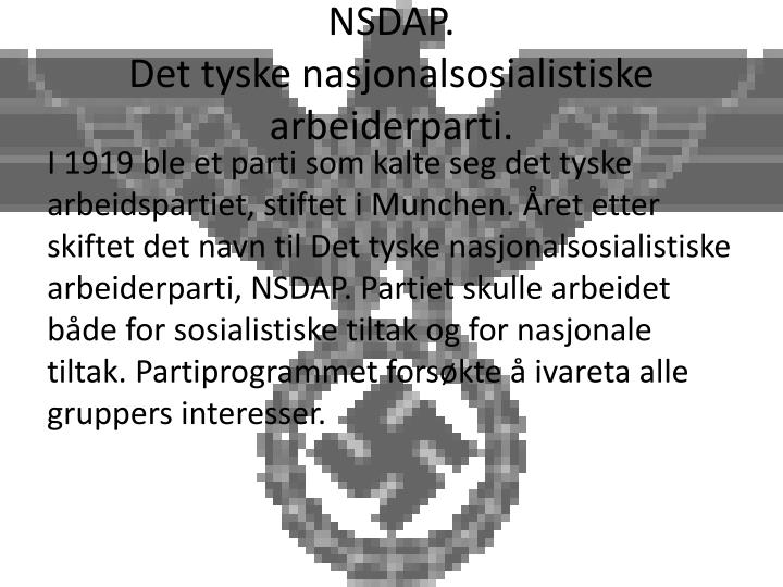 NSDAP.