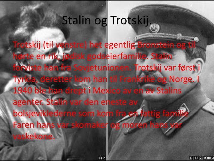 Stalin og Trotskij.