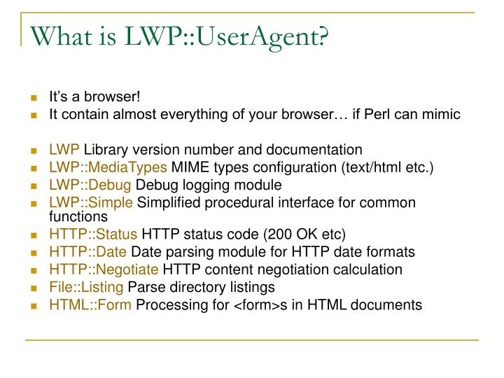 What is LWP::UserAgent?