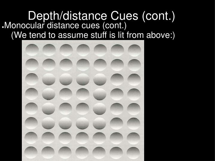 Monocular distance cues (cont.)