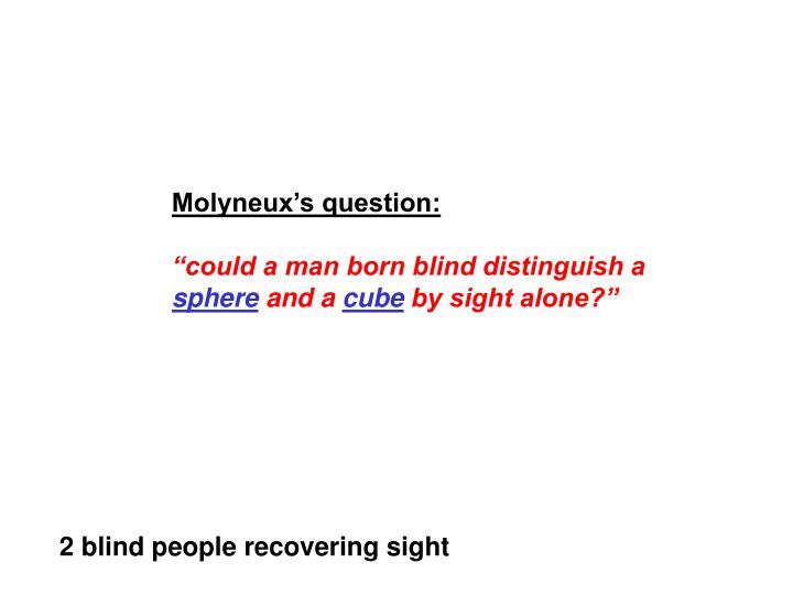 Molyneux's question: