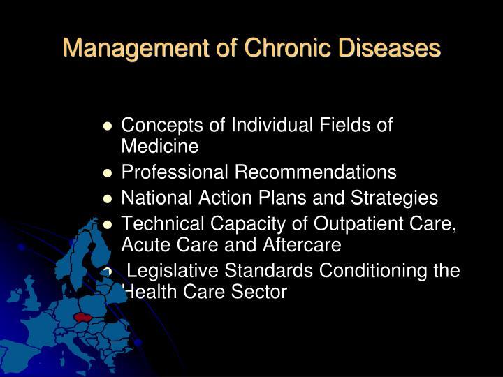 Management of chronic diseases