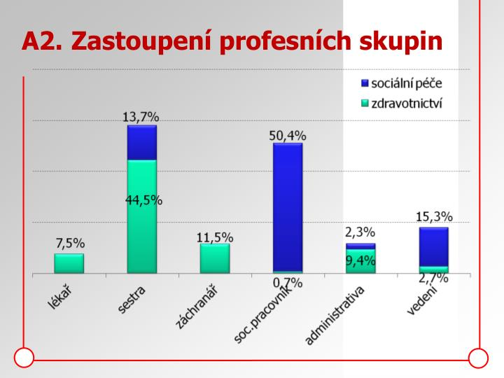 A2.Zastoupení profesních skupin