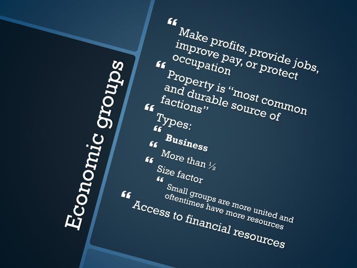 Economic groups