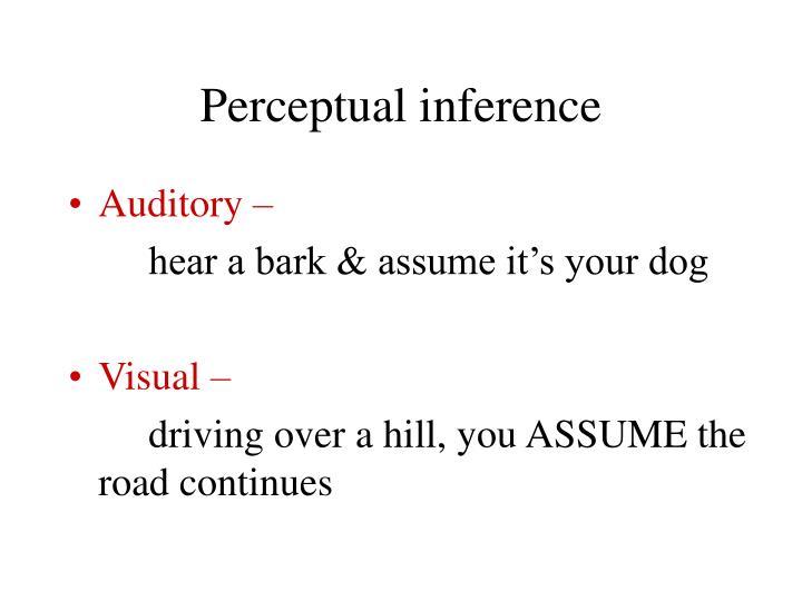 Perceptual inference