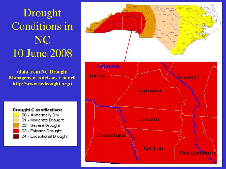 Drought Conditions in NC