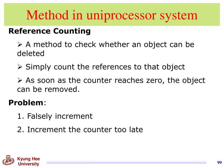 Method in uniprocessor system