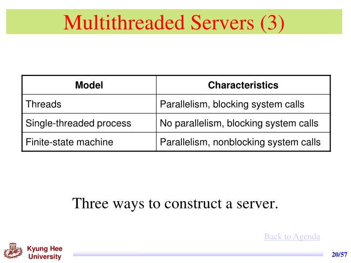 Multithreaded Servers (3)