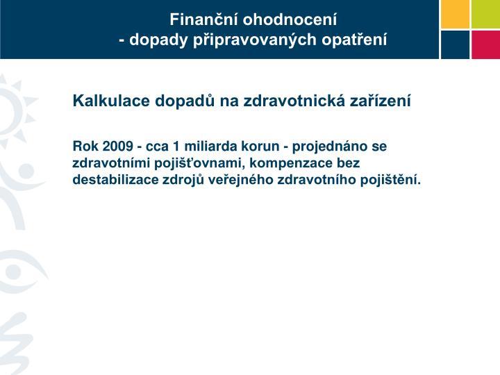 Finanční ohodnocení