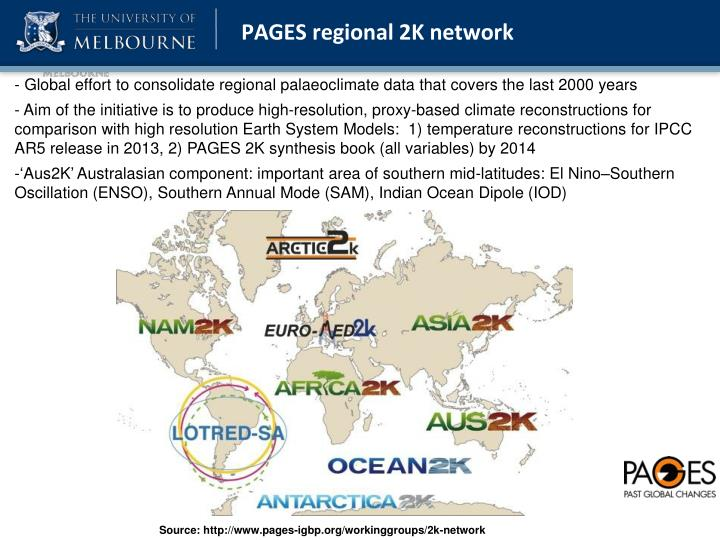 PAGES regional 2K network