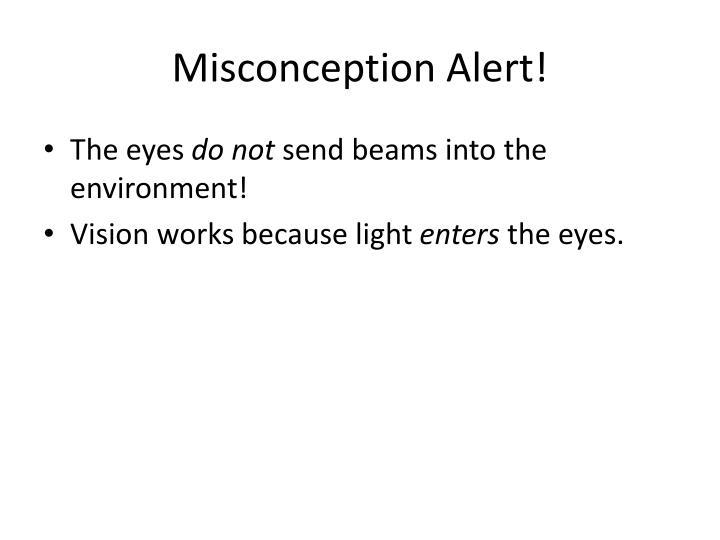 Misconception Alert!