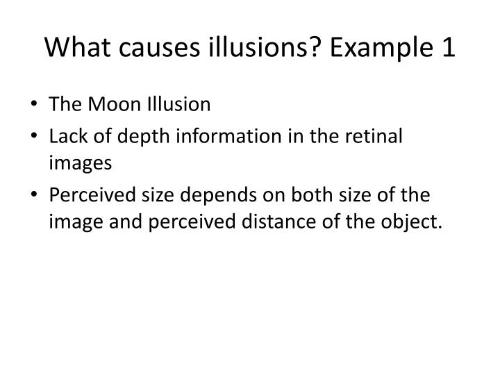 What causes illusions? Example 1