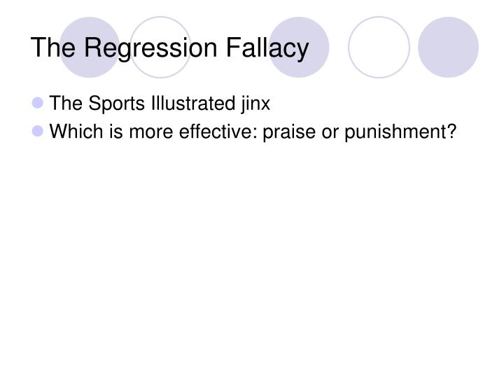 The Regression Fallacy