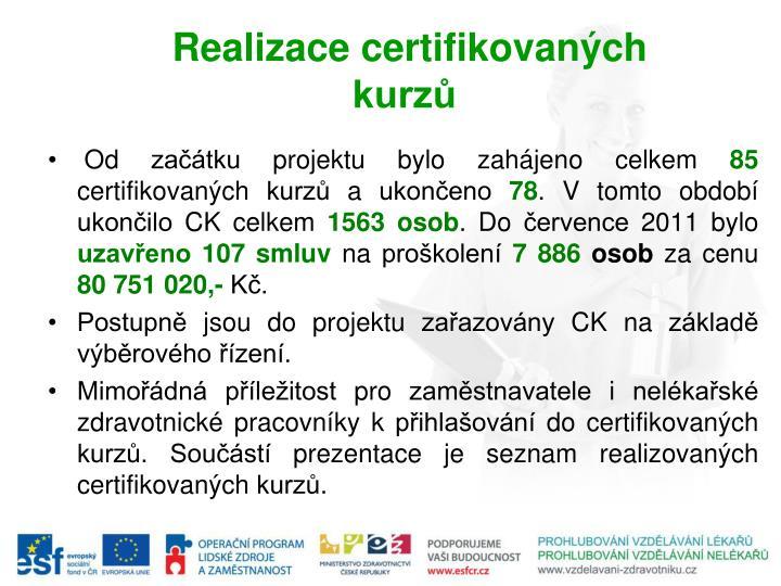 Realizace certifikovan ch kurz