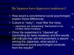 do japanese have depressive tendencies
