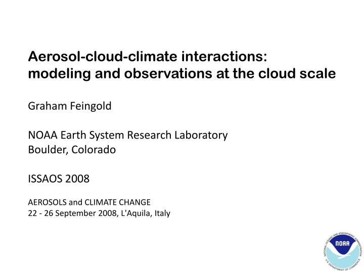 aerosol cloud interaction essay [1] aerosol interaction with clouds is the main uncertainty for the quantification of the anthropogenic forcing on climate the first step of the so‐called aerosol indirect effect is the change of cloud droplet size distribution when seeded by anthropogenic aerosols.