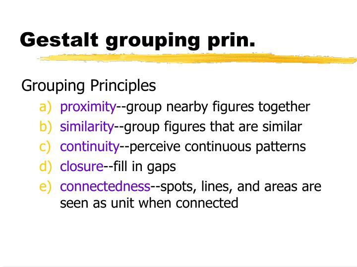 Gestalt grouping prin.